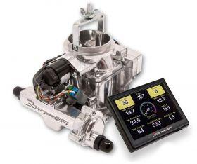 Holley Terminator EFI 4bbl Throttle Body Fuel Injection Master Kit - Tumble Polished 550-405K