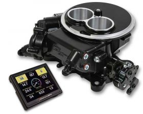 Holley Terminator EFI 4bbl Throttle Body Fuel Injection System - Tumble Polished 550-405