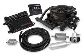 Holley Terminator EFI 4bbl Throttle Body Fuel Injection Master Kit - Hard Core Gray 550-406K
