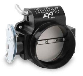 Holley BILLET 95mm LS Throttle Body w/low RPM Taper 112-585