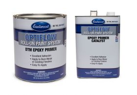 Eastwood OptiFlow Epoxy Primer Gallon and Catalyst Kit - Automotive Roll-On Paint - Gray