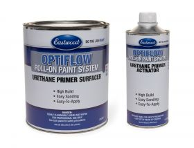 Eastwood OptiFlow Urethane Primer Gallon and Activator Kit - Automotive Roll-On Paint - Gray