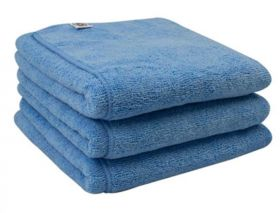 Chemical Guys Workhorse Towel - Blue For Windows Professional Grade Microfiber Towels 3-Pack