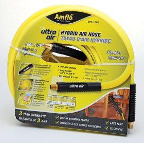 """Amflo Ultra Air Premium Hybrid Air Hose 100' x 3/8"""""""