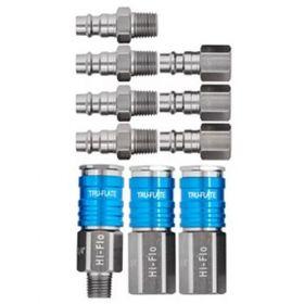 Tru-Flate HI FLO® Aluminum Couplers & Plugs 10 Piece Kit