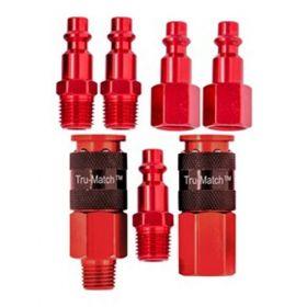 Tru-Match™ Air Couplers & Plugs 7 Piece Kit