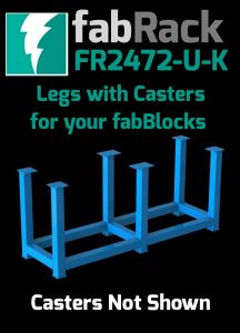 """Certiflat 24""""X72"""" FabRack with Casters for FabBlock"""