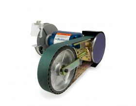 """8"""" Multitool Grinder 1HP 120V, assembled with 8CW attachment (2x48 belt - 8"""" contact wheel)"""