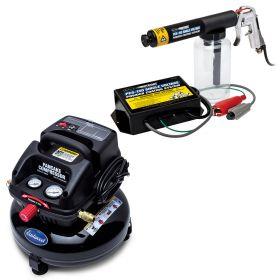 eastwood diy single stage powder coating gun and pancake compressor kit