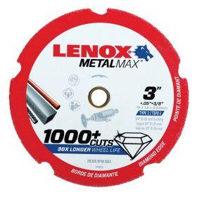 Lenox 3 Inch X .050 InchX 3/8 Arbor Diamond Type 1 cut off wheel