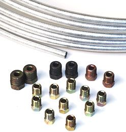 Steel  Line Tubing Kits- 25 Feet with Assorted Fittings