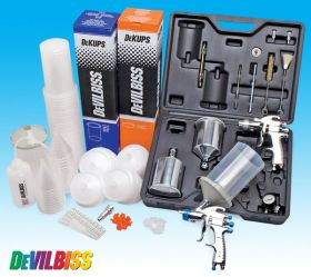Devilbiss Spray Paint 2 Gun Kit & DeKups System