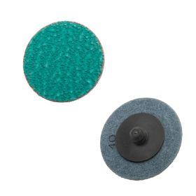 "Precision Abrasives 2"" Zirconia Plus Quick Change Laminated Discs Type R"