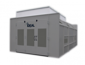 Tuxedo Distributors Canopy for Semi Down Draft Paint Booth PSB-SEMIDD26B-Plenum Kit ASY