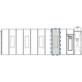 Tuxedo Distributors Cross Flow Paint Booth 30 Inch Light Extension Panel Kit Assembly PSB-AFCF-30LEPK-AK
