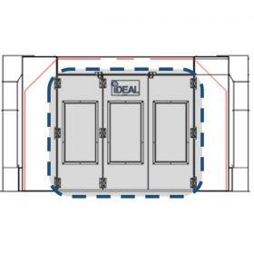 Tuxedo Distributors Side Down Draft Paint Booth Tri-Fold Drive-Thru Door Kit Assembly PSB-SDD-TF-DTD