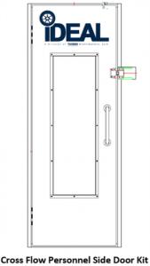 Tuxedo Distributors AF Cross Flow Paint Booth Personnel Side Door PSB-AFCF-PSDK-AK