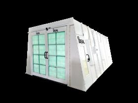 Tuxedo Distributors Cross Flow Paint Booth 22.6L-13W-8.6H 3PH-230V PSB-AFCF23B-3PH-230V-AK