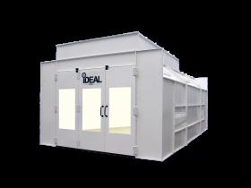 Tuxedo Distributors Semi Down Draft Paint Booth 26L-14W-9H 1PH-230V PSB-SEMIDD26B-1PH-230V-AK