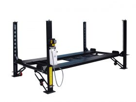 Tuxedo Distributors 8000 lb Deluxe Storage Lift Extended Length / Height - Poly casters - drip trays