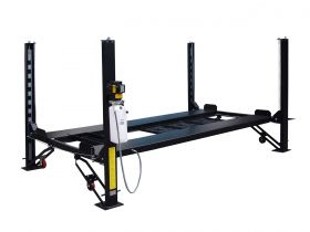 Tuxedo Distributors 8000 lb Deluxe Storage Lift - Poly casters - drip trays - jack tray FP8K-DX