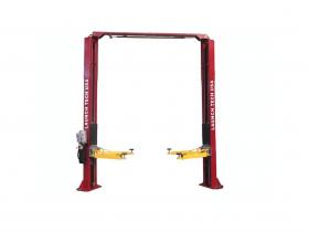 Tuxedo Distributors Launch 9000 lb Two Post Clear Floor Lift - Asymmetric - RED TLT240SC-R