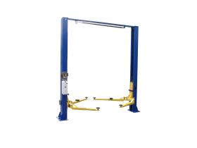 Tuxedo Distributors 9000 lb Two Post Clear Floor Lift - Asymmetric TP9KACX