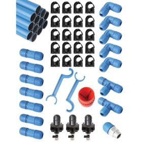 """Rapid Air 3/4"""" FASTPIPE Master Kit 90 FT, 3 OUTLETS  F28070"""
