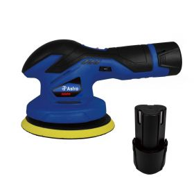 Astro 12V Cordless Variable Speed Palm Polisher with 2 Batteries 3026