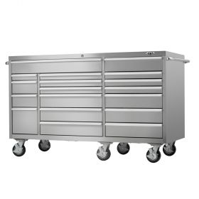 Viper Storage Viper Tool Storage Pro Series PRO 72-Inch 18-Drawer 304 Stainless Steel Rolling Cabine
