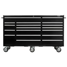 Viper Storage Viper Tool Storage Pro Series 72-Inch 18-Drawer18G Steel Rolling Cabinet, Black VP7218