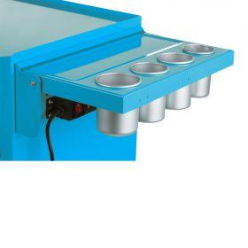 Viper Storage Viper Tool Storage Folding Side Shelf With Power Strip / USB, Teal V2STL