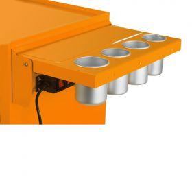 Viper Storage Viper Tool Storage Folding Side Shelf With Power Strip / USB, Orange V2SOR