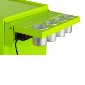 Viper Storage Viper Tool Storage Folding Side Shelf With Power Strip / USB, Lime Green V2SLG