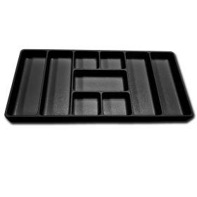 Viper Storage Viper Tool Storage 9-Compartment Drawer Organizer, Set of 2, ABS Plastic, Black VLDOBL