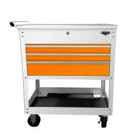 """Viper Storage Viper Tool Storage 34"""" Utility Cart, White/ Orange V33UCWORR"""