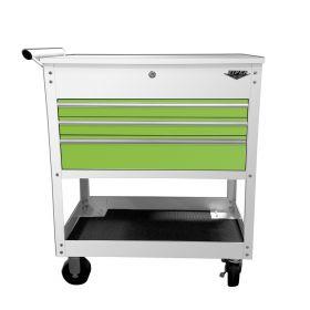 "Viper Storage Viper Tool Storage 34"" Utility Cart, White/ Lime Green V33UCWLGR"