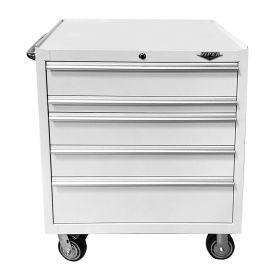 "Viper Storage Viper Tool Storage 33"" 5-Drawer 18g Steel Rolling Cabinet, White V332405WHR"