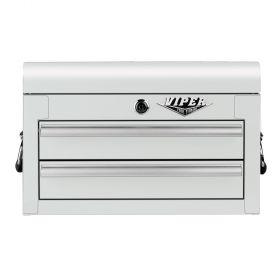 Viper Storage Viper Tool Storage 18-Inch 2-Drawer 18G Steel Mini Tool Chest, White V218MCWH
