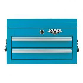 Viper Storage Viper Tool Storage 18-Inch 2-Drawer 18G Steel Mini Tool Chest, Teal V218MCTL