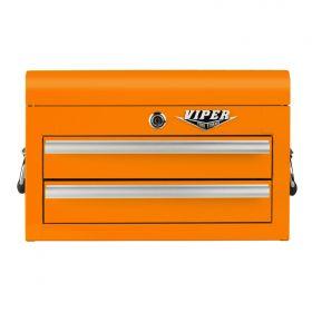 Viper Storage Viper Tool Storage 18-Inch 2-Drawer 18G Steel Mini Tool Chest, Orange V218MCOR