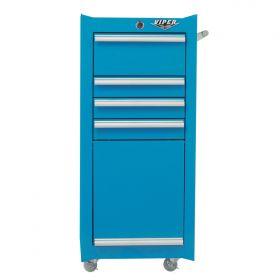 Viper Storage Viper Tool Storage 16-Inch 4-Drawer 18G Steel Rolling Tool/Salon Cart, Teal V1804TLR
