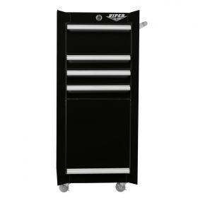 Viper Storage Viper Tool Storage 16-Inch 4-Drawer 18G Steel Rolling Tool/Salon Cart, Black V1804BLR