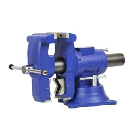 Yost 5-1/8 Inch Multi-Jaw Rotating Combination Pipe and Bench Vise - Swivel Base - Model 750-DI