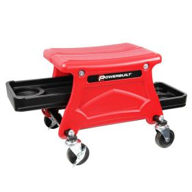 Powerbuilt HD COMPACT ROLLING SEAT W/ STORAGE TRAYS 240283