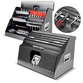 56675 Powerbuilt 26 Inch Rapid Box with Magnetic Front Cover Gray 240102