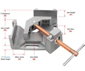 Strong Hand Tools 2-Axis Welders Angle Clamp; 4.75 Inchcapacity WAC45
