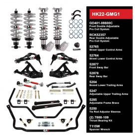 QA1 HANDLING KIT 2.0 - LEVEL 2 - GM G-BODY; 78-88 GM G-BODY - W/ SHOCKS HK22-GMG1