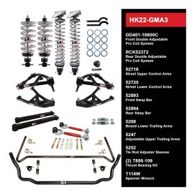QA1 HANDLING KIT 2.0 - LEVEL 2 - GM A-BODY; 73-77 GM A-BODY - W/ SHOCKS HK22-GMA3