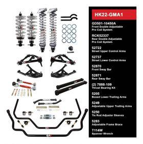 QA1 HANDLING KIT 2.0 - LEVEL 2 - GM A-BODY; 64-67 GM A-BODY - W/ SHOCKS HK22-GMA1